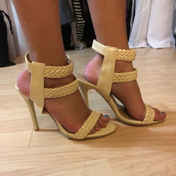 Cream Braided Strappy Heels | Poshmark